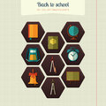 School Attributes Icons Royalty Free Stock Photo