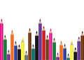 School background with pencils Royalty Free Stock Images