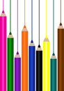 School background with pencils Stock Photo
