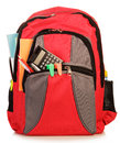 School backpack the isolated on white background Stock Photo