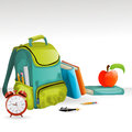 School bag Stock Photo