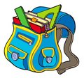 School bag with books Royalty Free Stock Image
