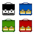 School bag icons illustration for the web Royalty Free Stock Images