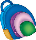 School bag illustartion Royalty Free Stock Photo