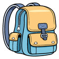 School bag vector illustration of back to Royalty Free Stock Photos