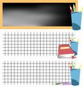 School banner set 1 Royalty Free Stock Image