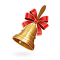 School bell with bow Royalty Free Stock Photo