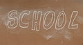 School blackboard Stock Photo