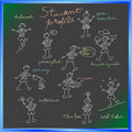 School blackboard with student profile Royalty Free Stock Photos