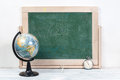 School board , globe and watches Royalty Free Stock Photo