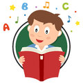 School Boy Reading Logo