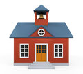 School building icon isolated on white background d render Royalty Free Stock Photos