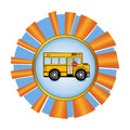 School bus award backt to Royalty Free Stock Photo