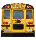 School Bus Back Royalty Free Stock Photo