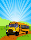 School Bus background Royalty Free Stock Photo