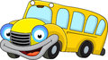 School bus cartoon character Royalty Free Stock Photography