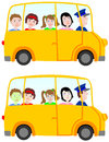 School bus - children on the trip Stock Images