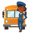 School bus driver vector illustration. Royalty Free Stock Photo