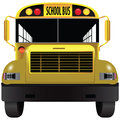 School bus front a vehicle for transporting children vector illustration Stock Images