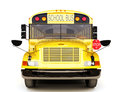 School bus front view Royalty Free Stock Photos