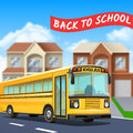 School Bus Illustration Royalty Free Stock Photo