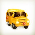 School bus illustration on white background Stock Photography