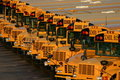 School Bus Lot Stock Photo