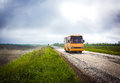 School bus on the road Royalty Free Stock Photo