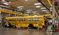 School Bus in the shop Royalty Free Stock Photo