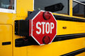 School bus stop Stock Images