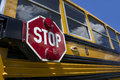 School bus with stop sign Royalty Free Stock Photo