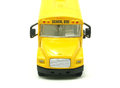School bus toy isolated on a white background Royalty Free Stock Images