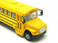 School bus toy isolated on a white background Stock Image
