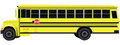 School bus a vehicle for transporting children vector illustration Stock Image