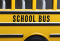 School bus view of toy Royalty Free Stock Photo