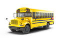 School bus on white background Royalty Free Stock Photos