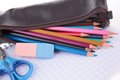 School or business accessories close up on Stock Images