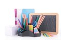 School or business accessories on white Stock Images
