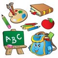 School cartoons collection Royalty Free Stock Photos