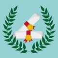 School certificate study emblem