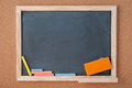 School Chalkboard for background. Back to school time Royalty Free Stock Photo