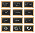 School Chalkboard collection Stock Images