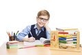 School Child Students Education, Pupil Boy in Glasses, Kid Royalty Free Stock Photo