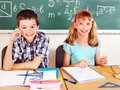 School child with teacher. Stock Photography