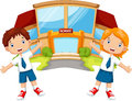 School children cartoon Royalty Free Stock Photo