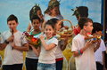 School children celebrating shavuot pentecost israeli secular the jewish holiday of feast of weeks commemorating the harvest the Royalty Free Stock Images