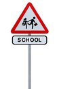 School Children Crossing Sign Royalty Free Stock Photo