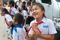 School children in Laos Royalty Free Stock Photo