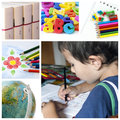 School collage Royalty Free Stock Photo