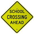 School Crossing Ahead Stock Photography